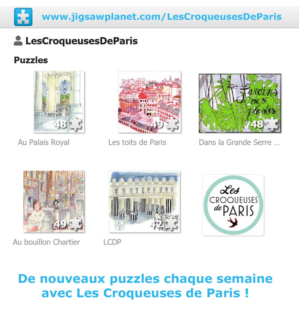 Jouer en ligne avec les puzzzles des Croqueuses de Paris